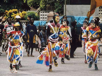 Parade with costumes