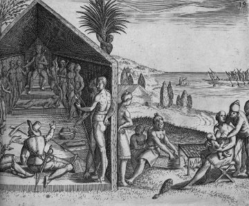 King greets European visitors, Cape Lopez
