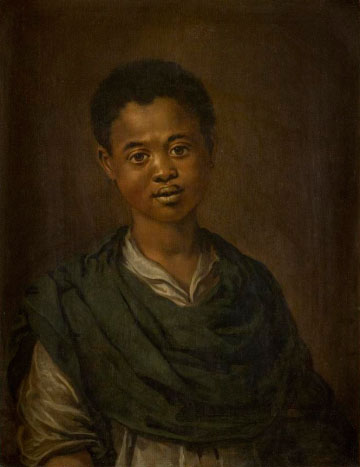 Portrait of a young black man