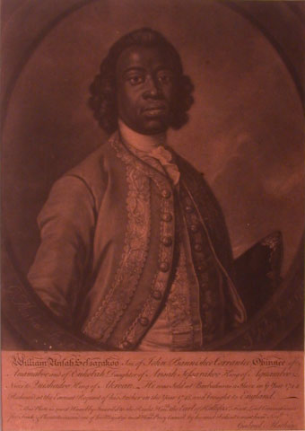 Mezzotint of William Ansah Sessarakoo