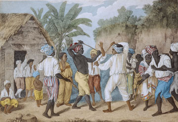 <i>A Cudgelling Match between English & French Negroes in the Island of Dominica</i>