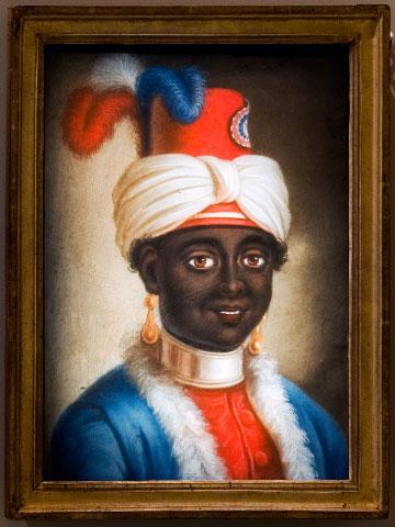 Portrait of a young slave in a republican suit