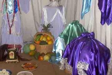 Exhibit displaying Cuban <i>Santería</i>