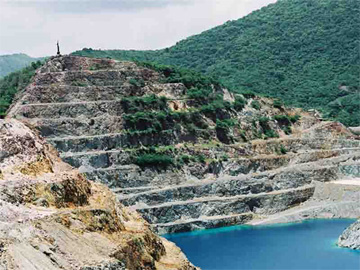 View of the open-air copper mine, El Cobre