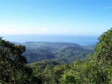 A view of the landscape that surrounded the coffee plantations of southeastern Cuba
