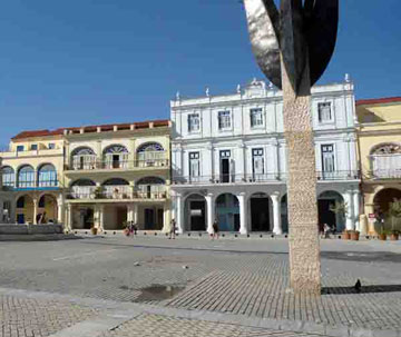One of the art installations displayed in the Old Square, Havana, Cuba