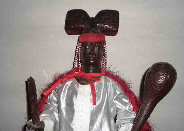 Sculptural image of Shango in the altar of the house-temple