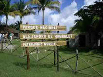 Entrance to Alejandro de Humboldt National Park, Cuba