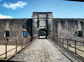 Entrance of Fort Louis Delgrès, Basse-Terre, Guadeloupe