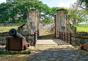 Entrance of Fort Fleur-d'Épée, Guadeloupe