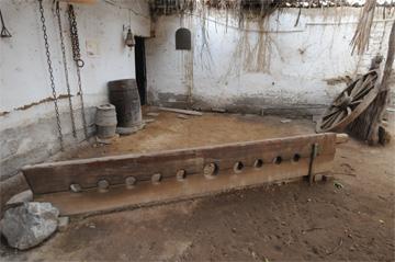 Room of torture, Afro-Peruvian Museum, Zaña, Peru